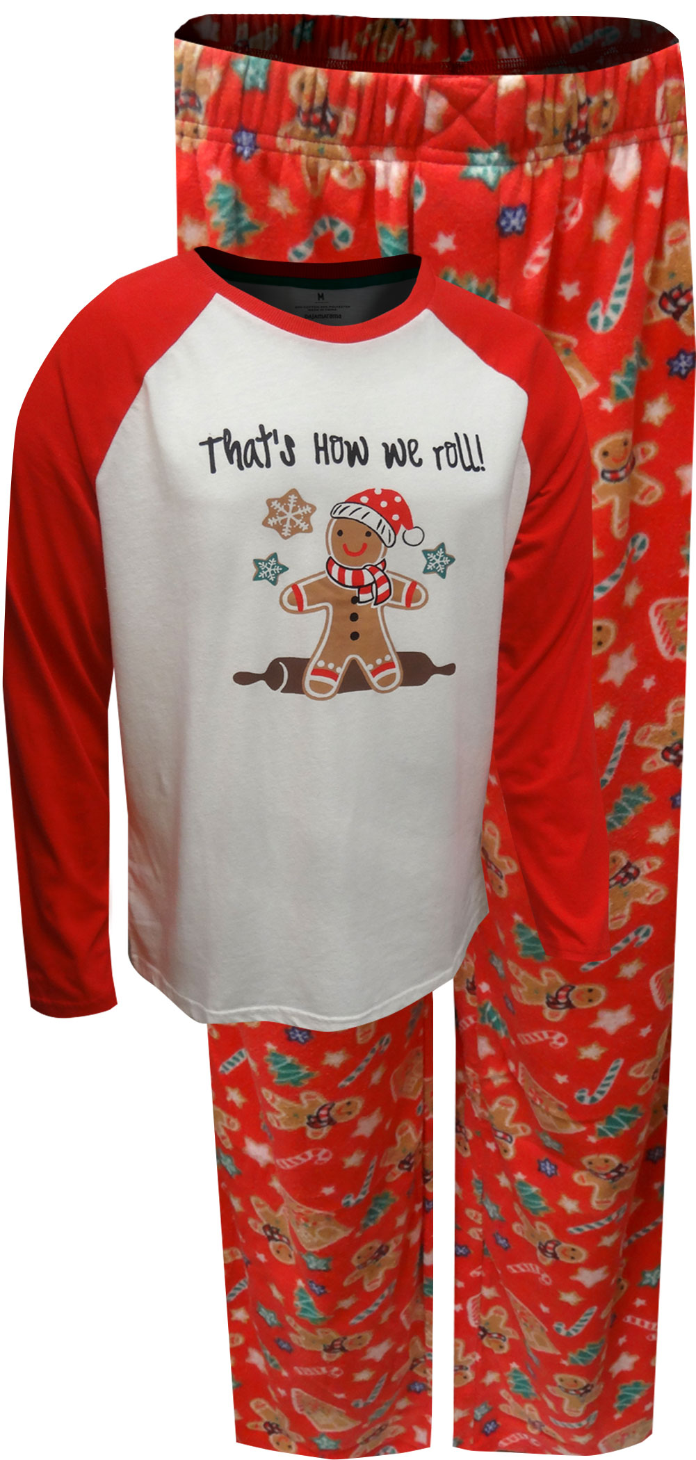 Image of Gingerbread Men That's How We Roll Guys Christmas Pajama for men
