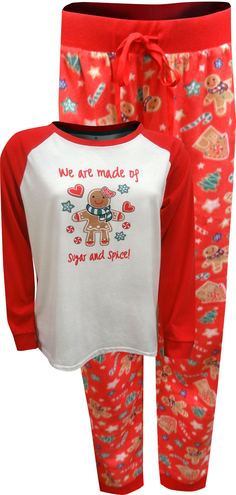 Image of Gingerbread Cookie Sugar And Spice Ladies Christmas Pajama for women