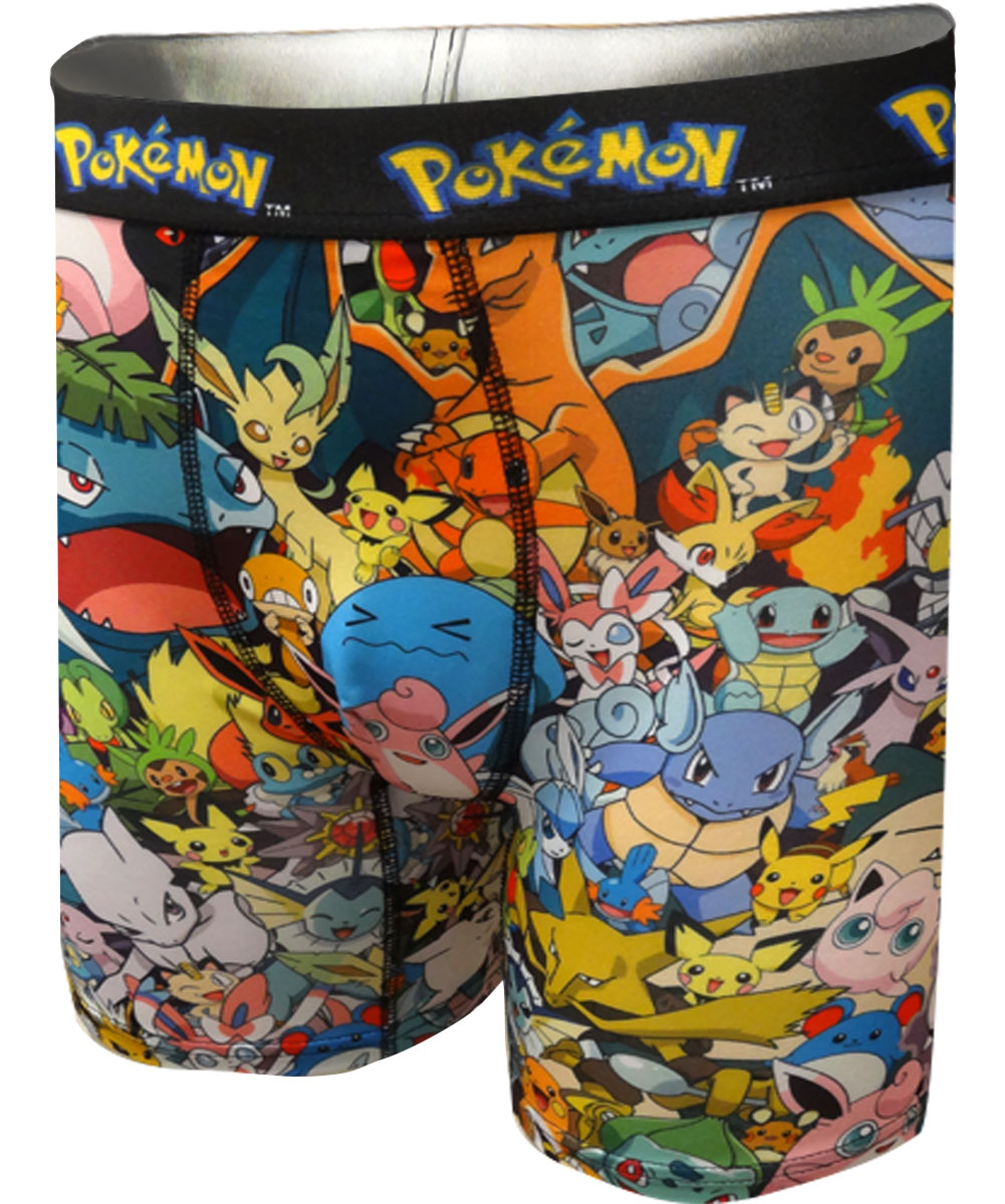 Image of Pokemon Mob Scene Performance Boxer Briefs for men