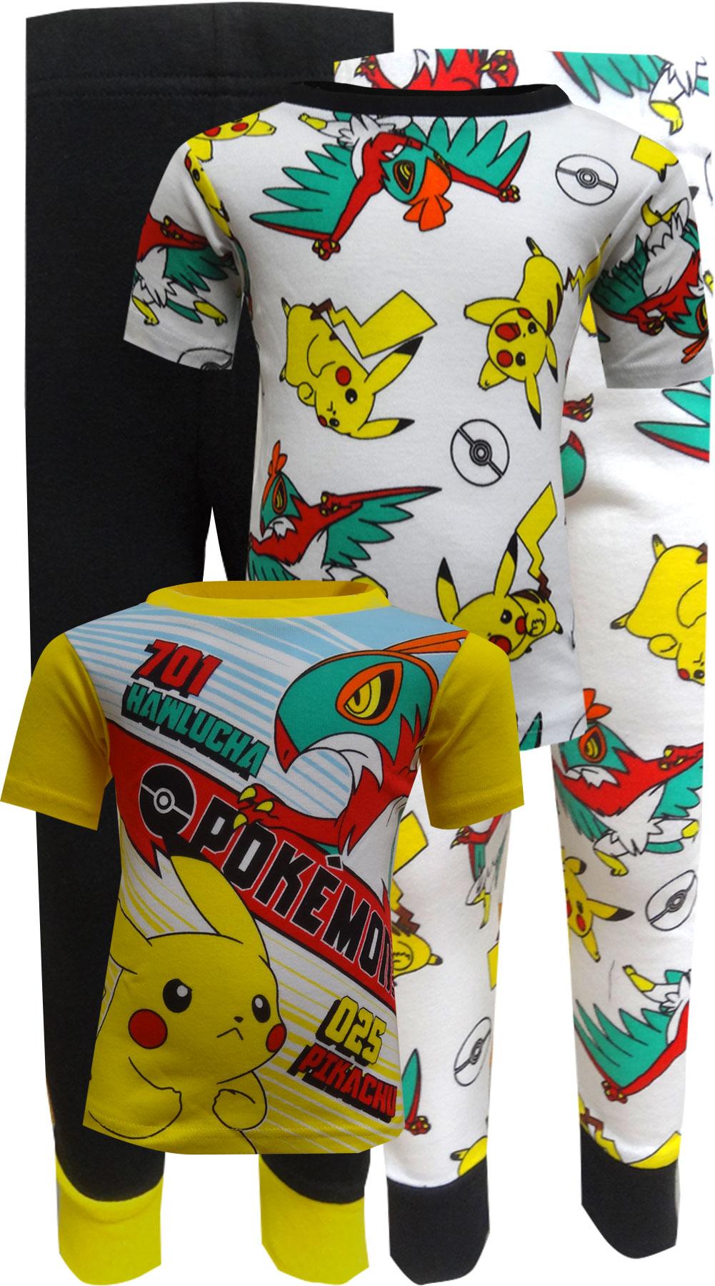 Image of Pokemon Characters Cotton 4 Piece Pajamas for boys