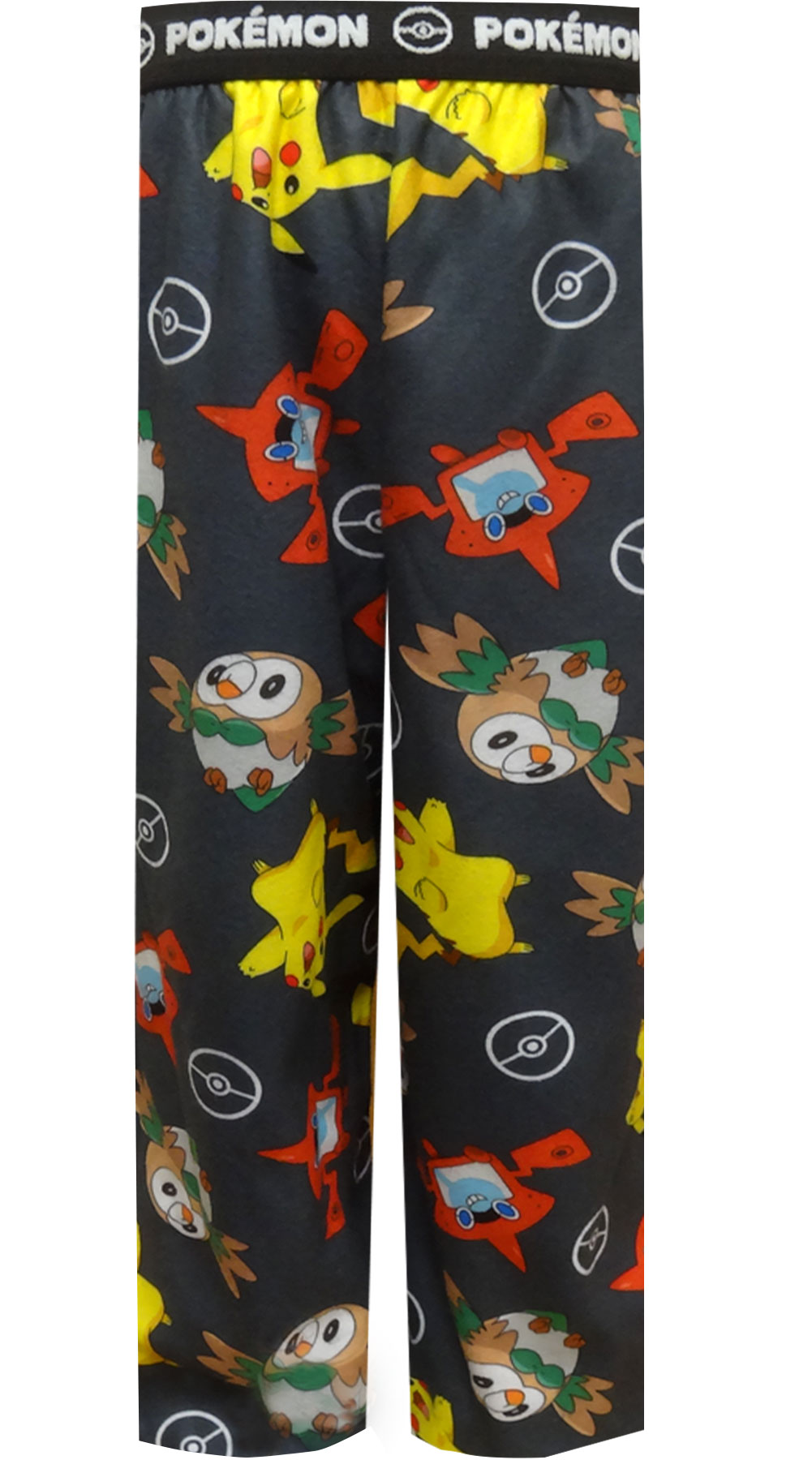 Image of Pokemon Favorites Gray Flannel Lounge Pants for boys