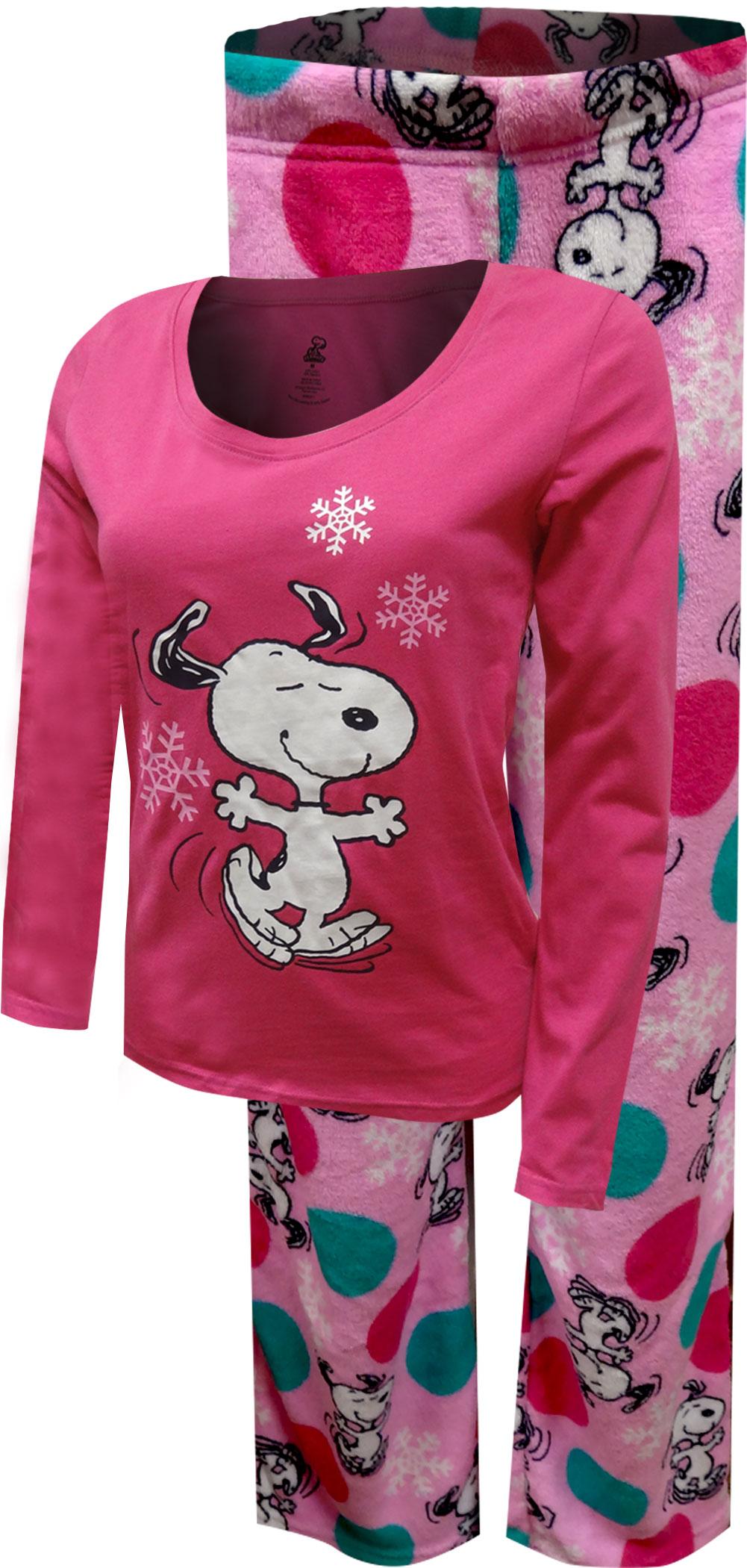 Peanuts Snoopy Pink Plush Pajama for women