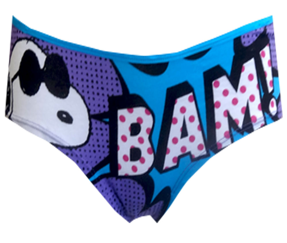 Peanuts Snoopy BAM! Purple Panty for women