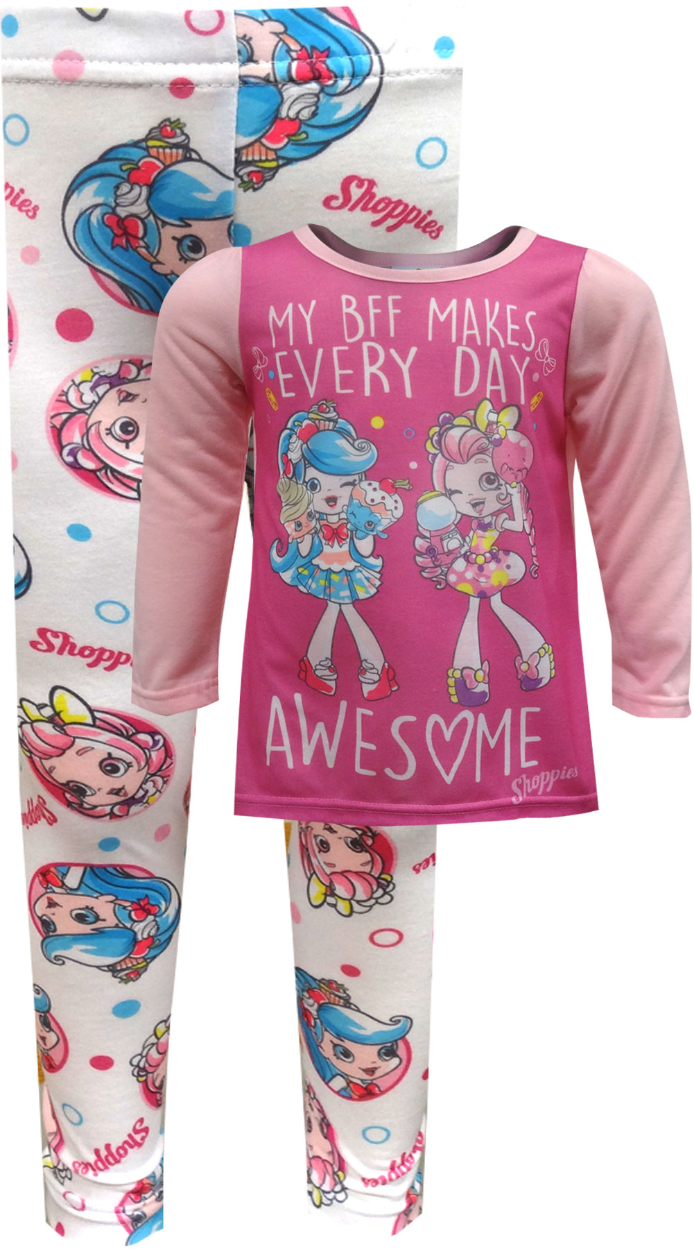 Image of Shopkins My BFF Makes Every Day Awesome Pajama for girls