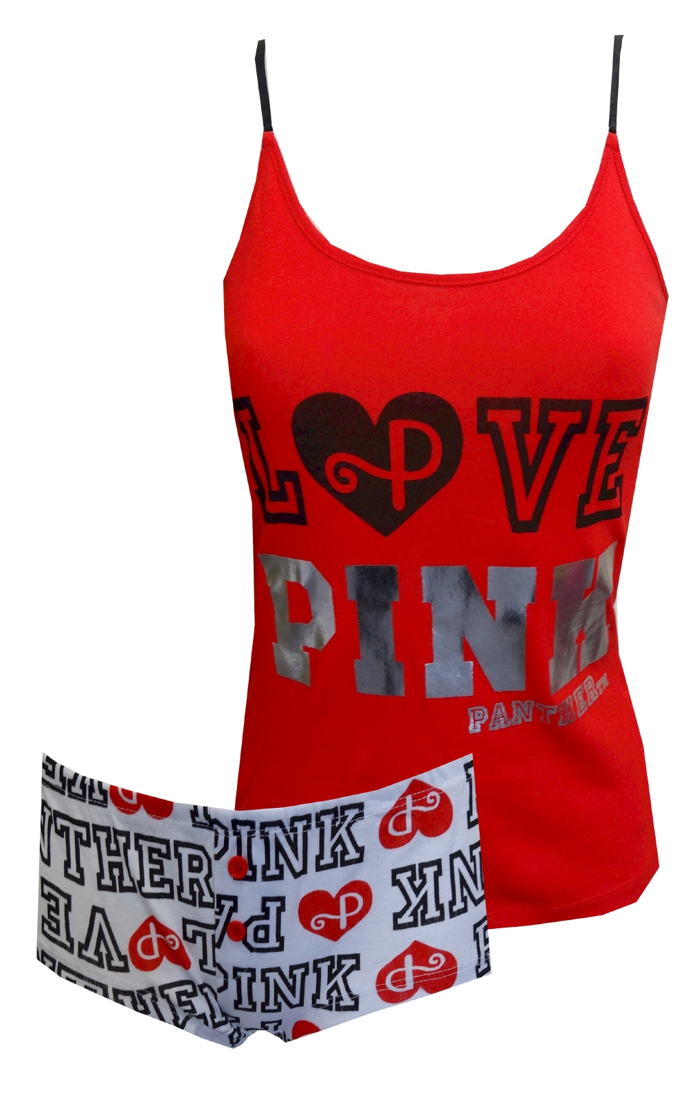 LOVE PINK Panther Red Hot Shortie Pajama for women