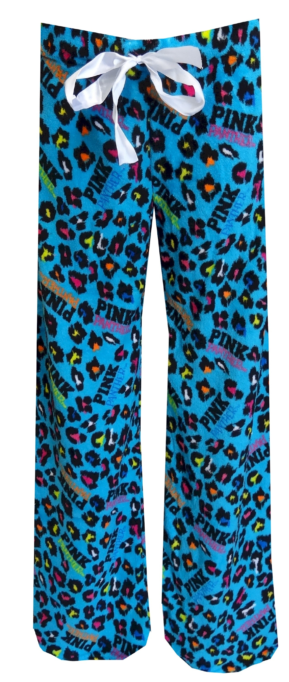 PINK Panther Neon Leopard Turquoise Plush Lounge Pant for women