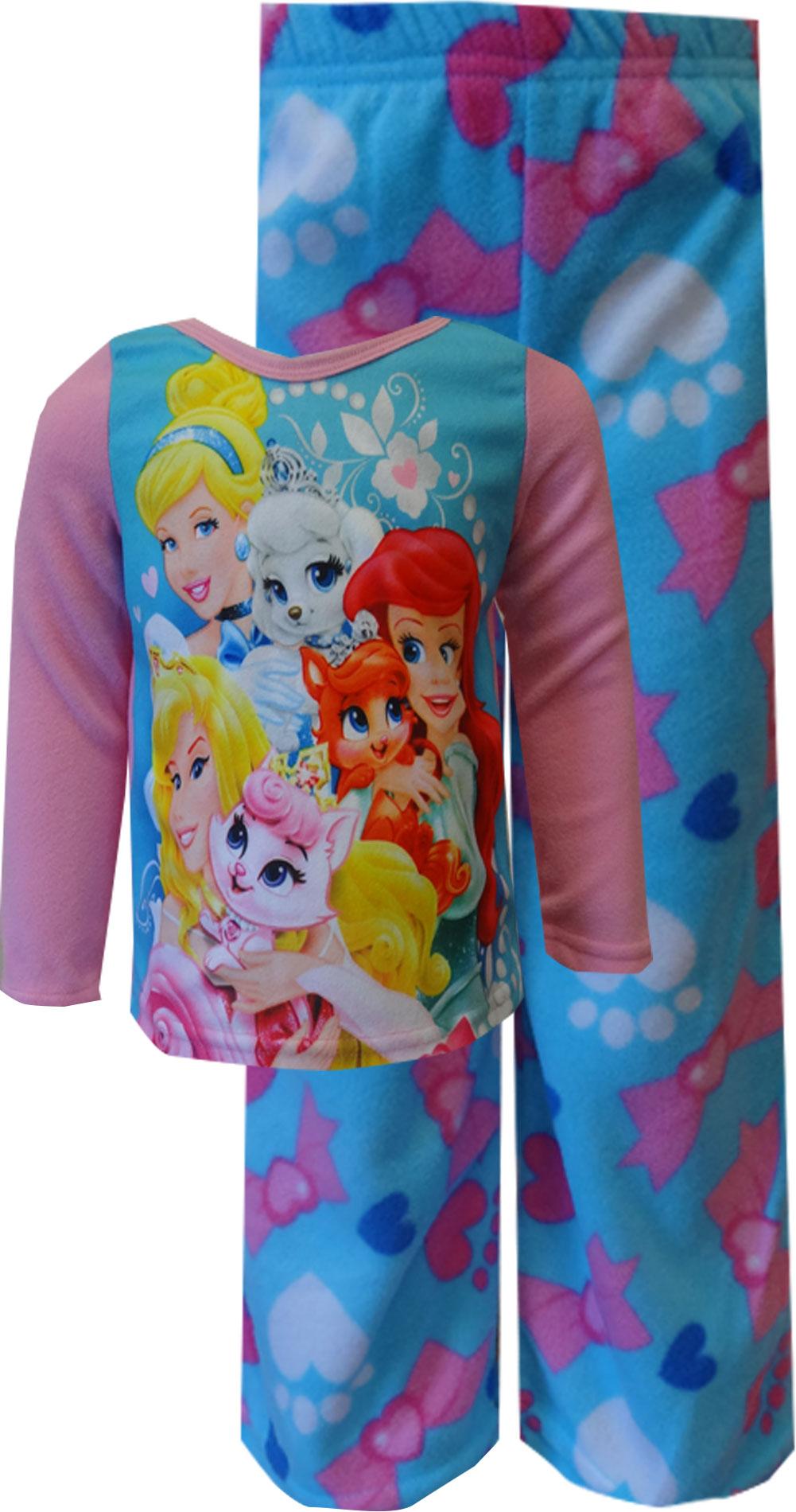 Image of Disney Princesses Palace Pets Fleece Pajama Set for girls
