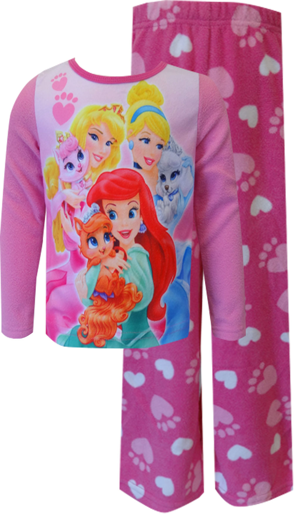 Image of Disney Princesses and Palace Pets Pink Toddler Pajamas for girls