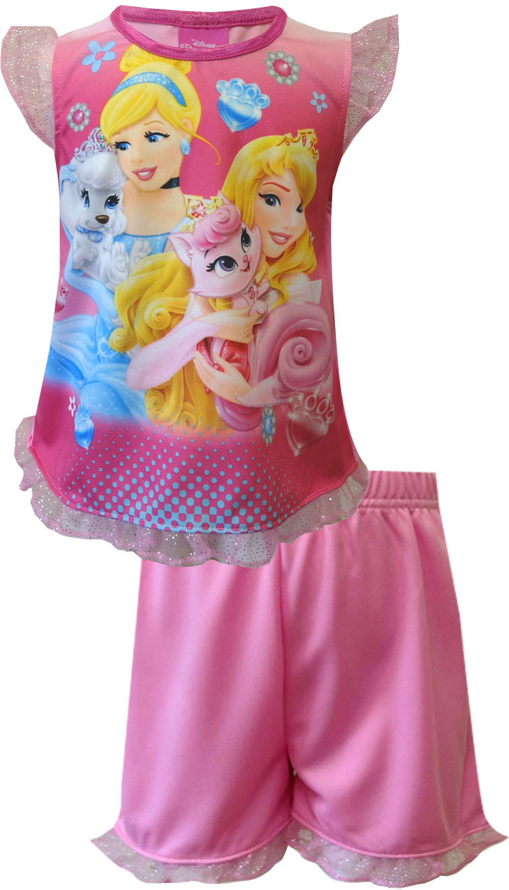 Image of Disney Cinderella & Sleeping Beauty Toddler Shortie PJ for girls