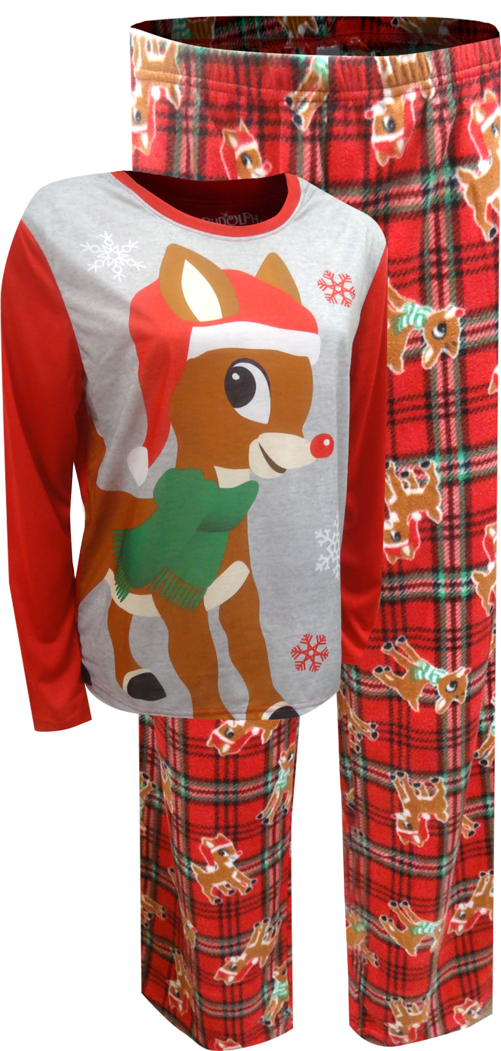 Image of Christmas Rudolph The Red-Nosed Reindeer Plus Size Pajamas for Women