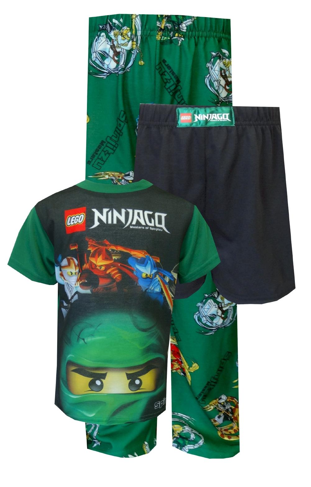 WebUndies.com LEGO Ninjago Green Ninja Lloyd ZX 3-piece Pajama Set