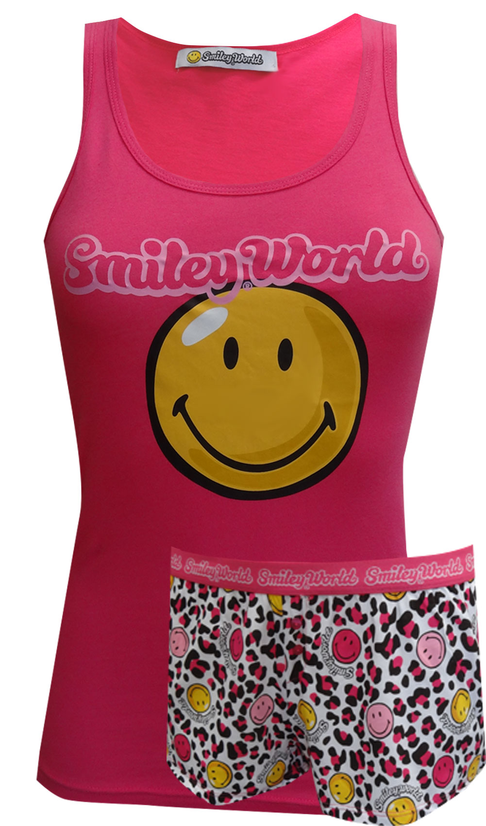 Smiley World Animal Print Shortie Pajama Set for women