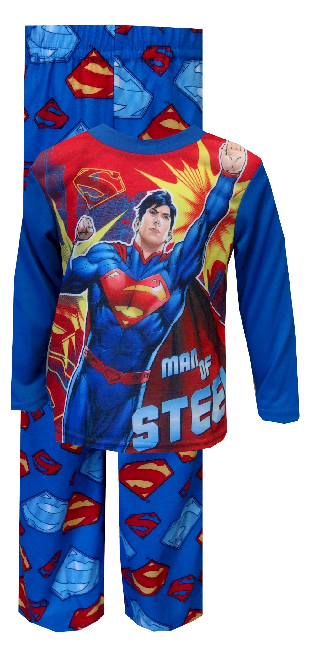 Image of DC Comics Superman Man Of Steel Pajama for boys