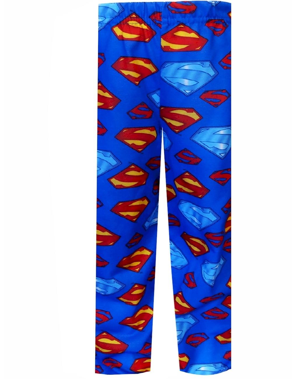 Superman Logo Pajama Pants for Men