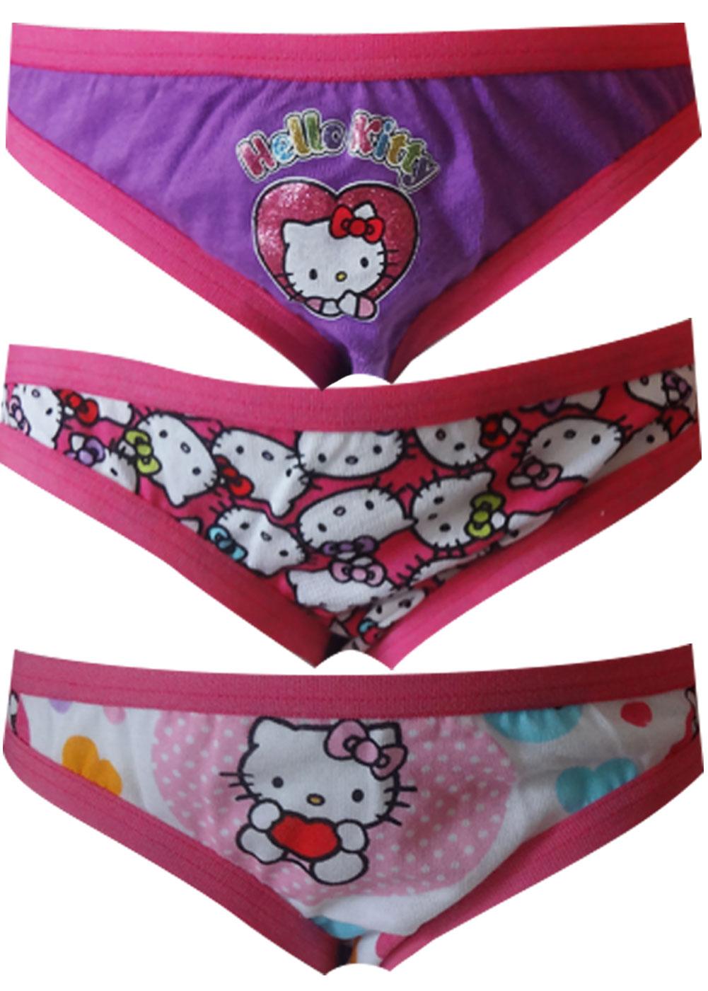 Hello Kitty 3 Pack Girls Bikini Style Panties for girls