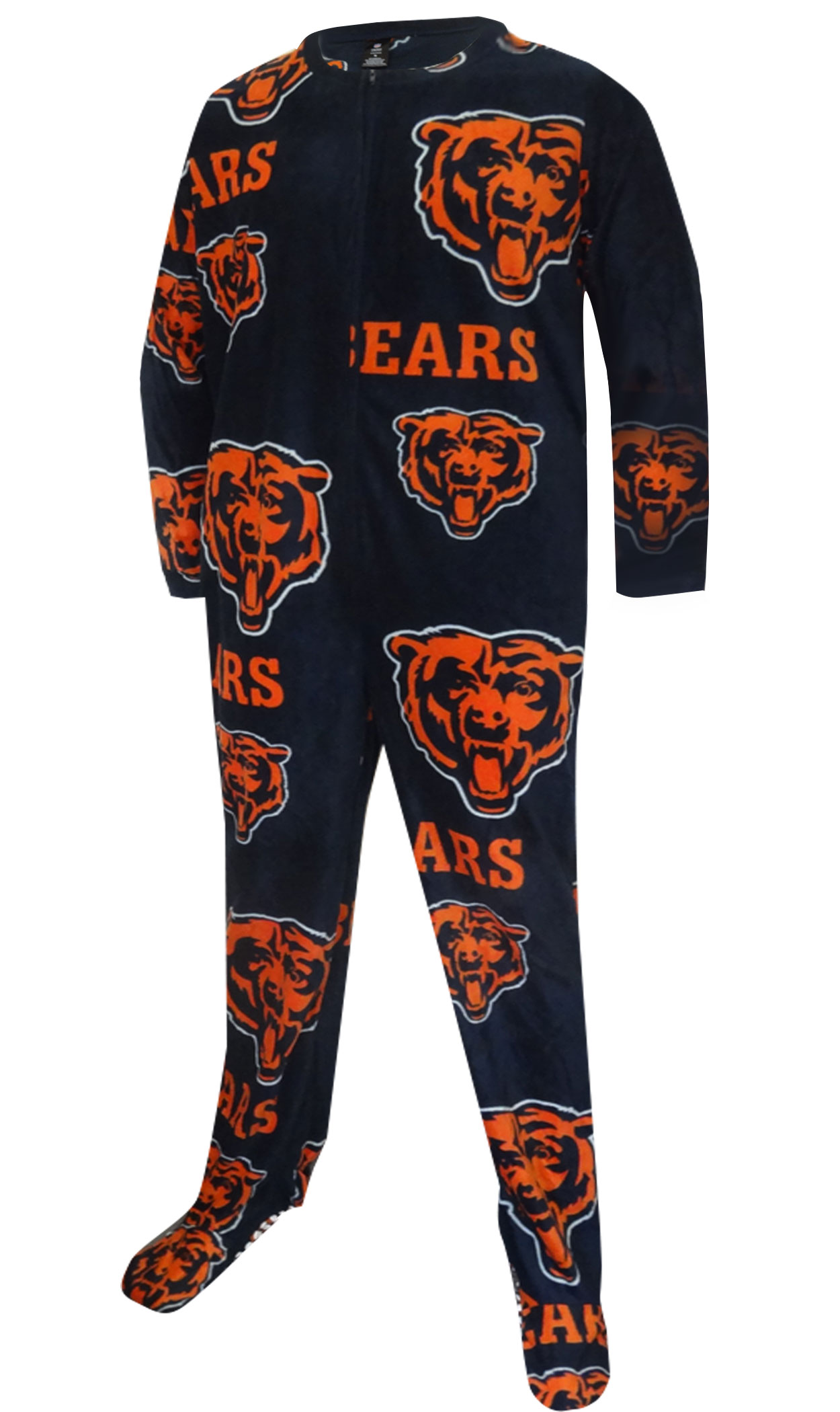 Image of Chicago Bears Mens Fleece One Piece Footie Pajama for men