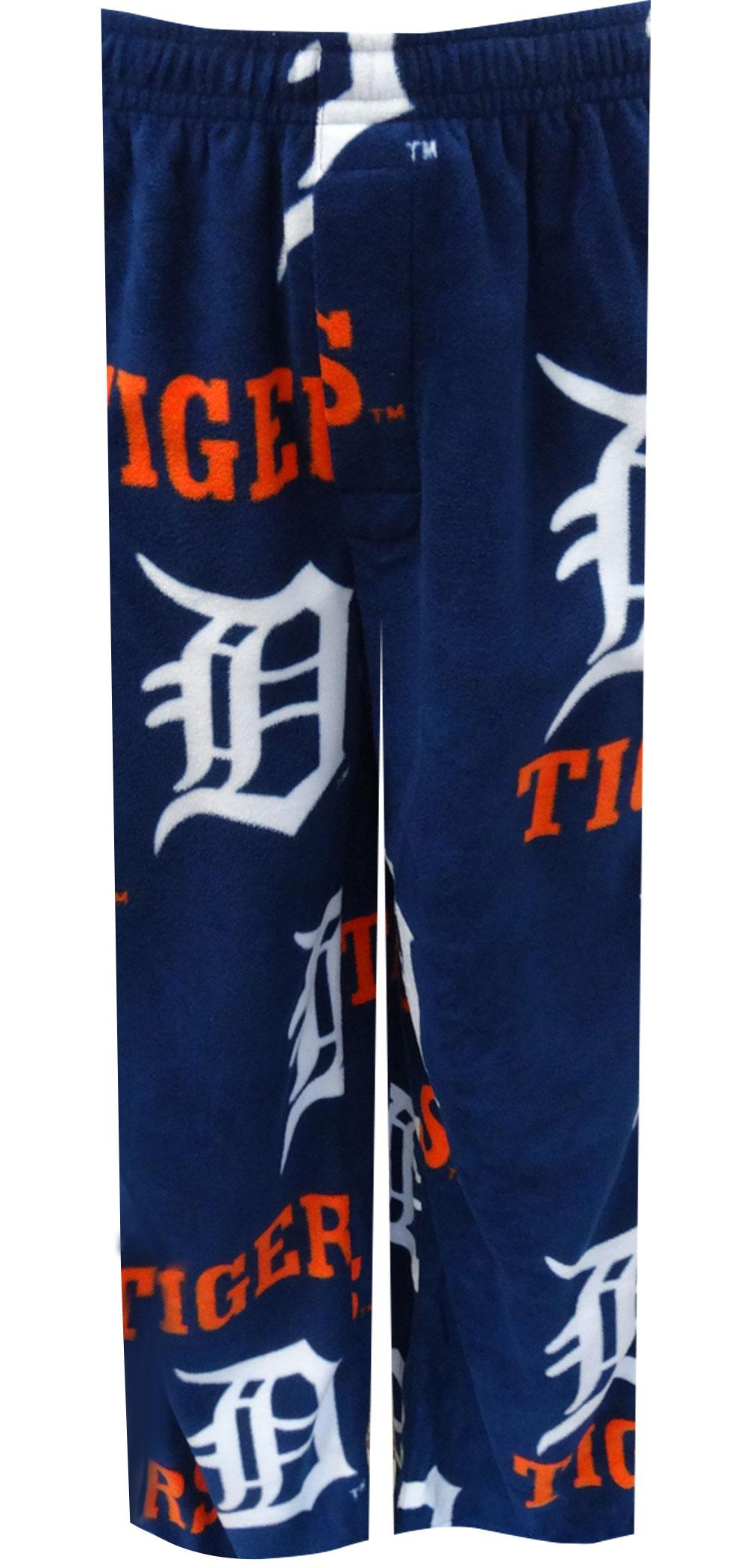 Detroit Tigers Classic Logos Guys Fleece Lounge Pants for men