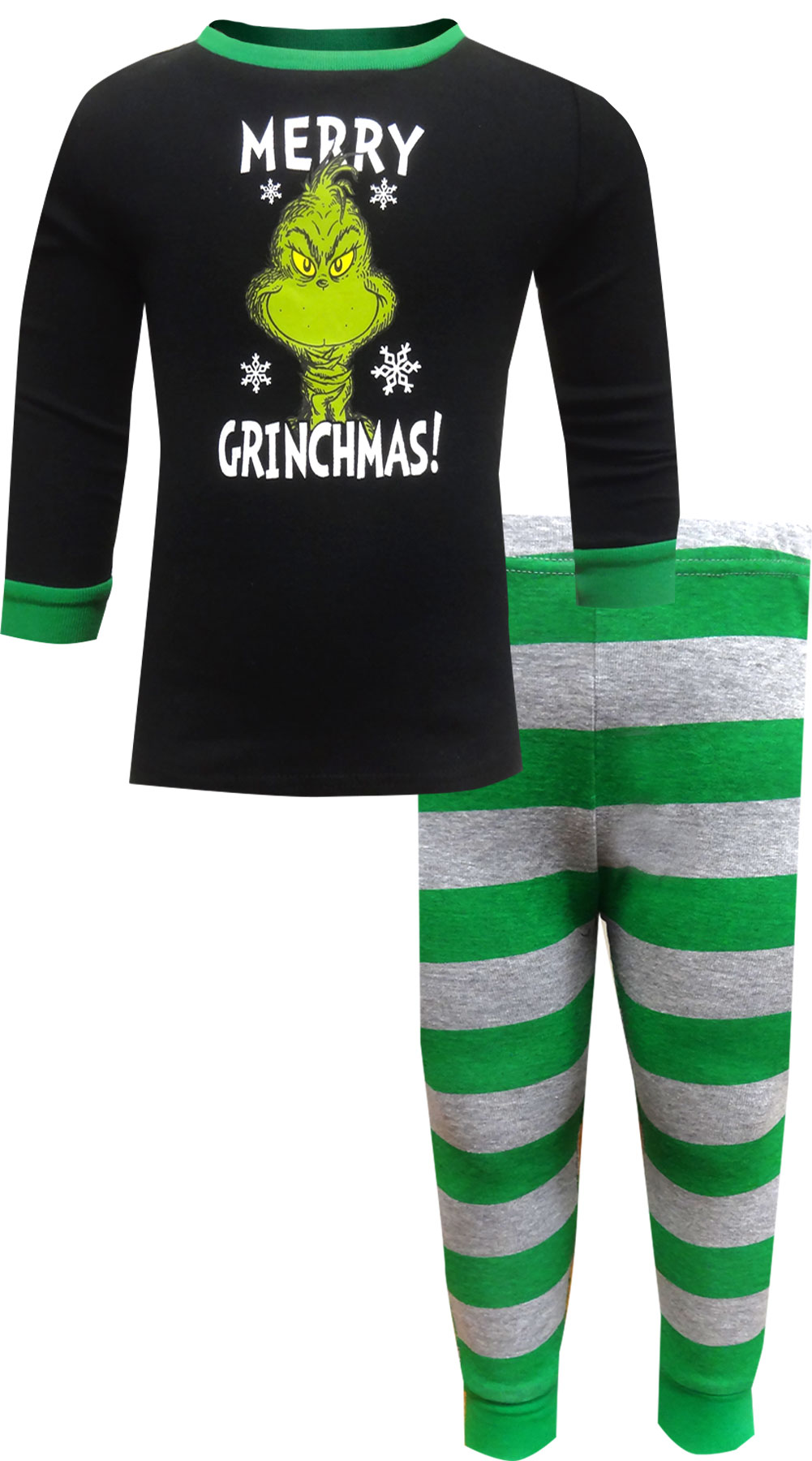 Image of Dr. Seuss The Grinch Merry Grinchmas Toddler Cotton Pajamas for boys