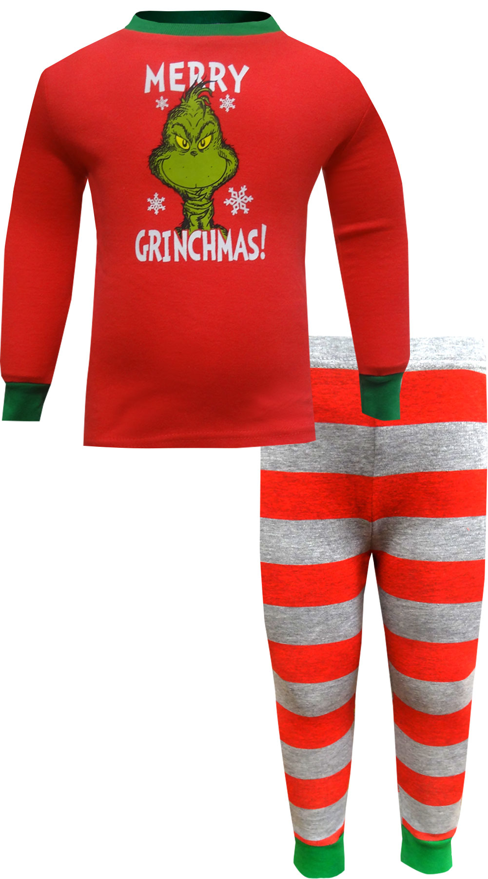 Image of Dr. Seuss The Grinch Merry Grinchmas Toddler Girls Pajamas for girls