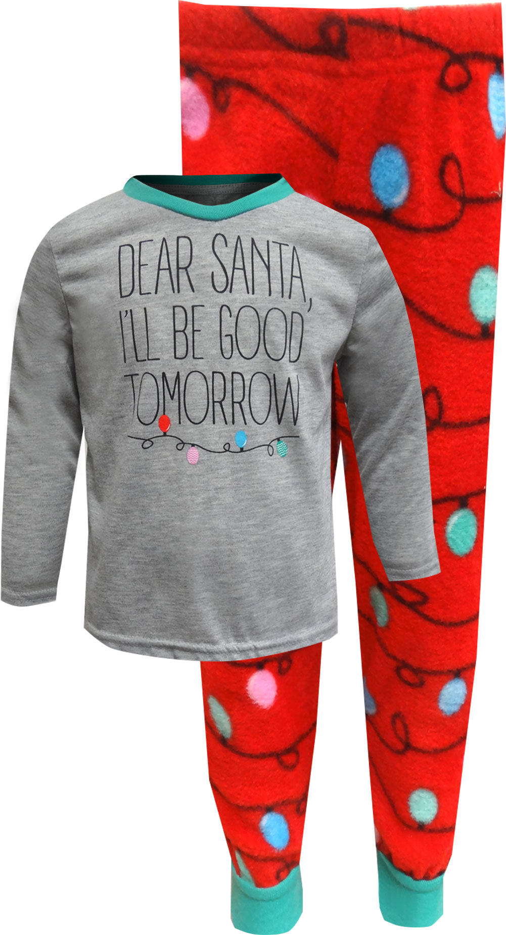 Image of Dear Santa I'll Be Good Tomorrow Christmas Toddler Pajama for boys