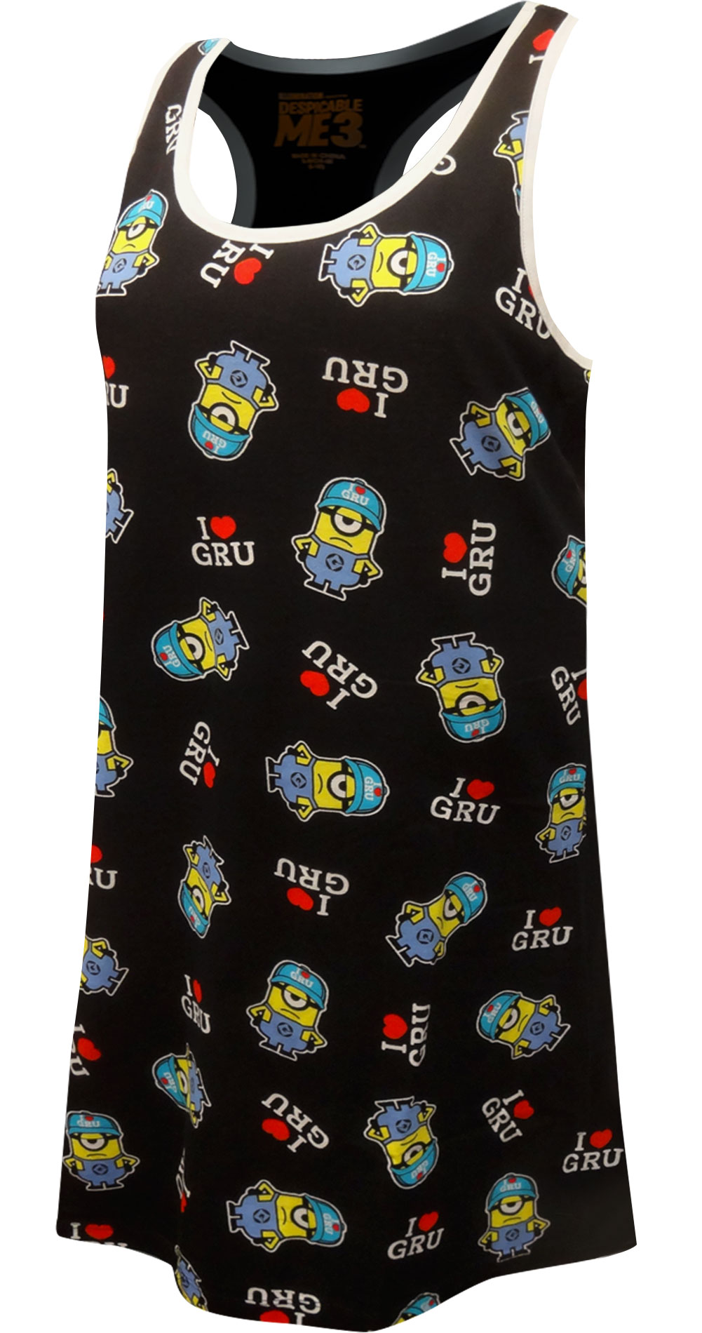Image of Despicable Me 3 Minions I Love Gru Tank Style Nightgown for women