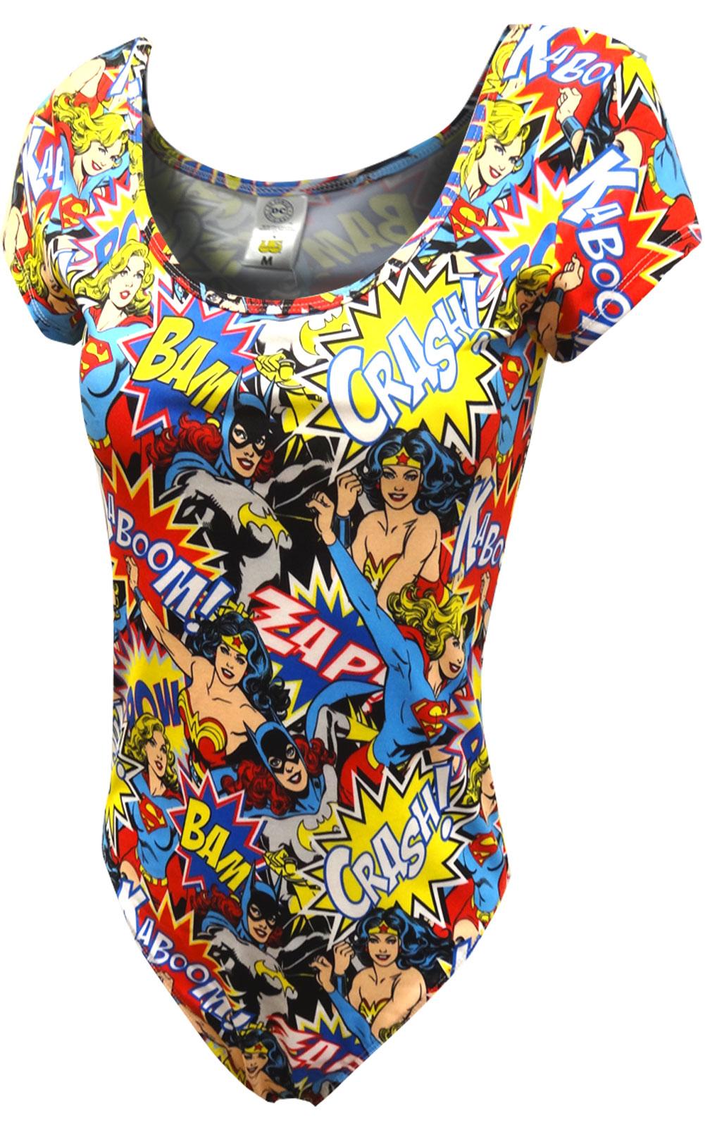 Image of Batgirl Supergirl and Wonder Woman Bodysuit for women