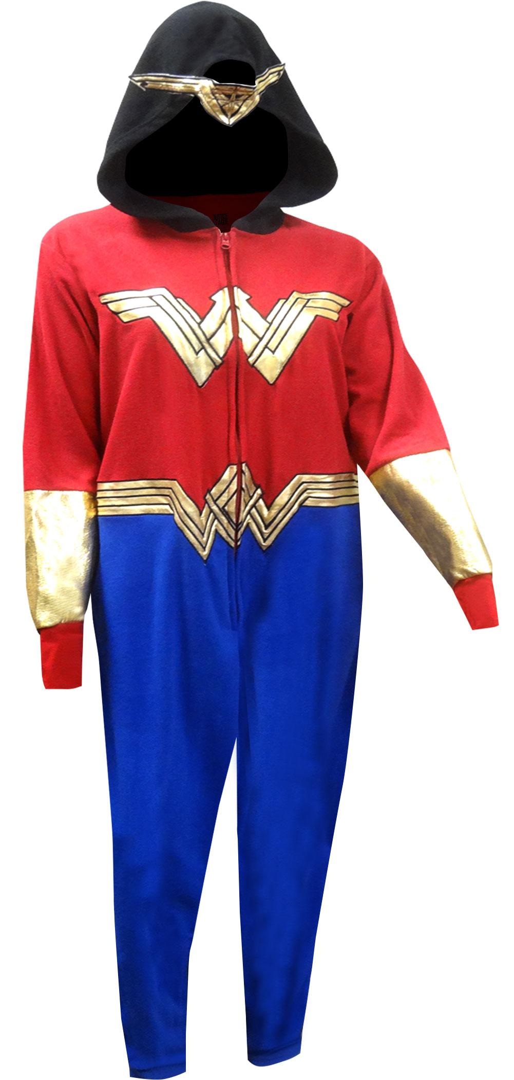 Wonder Woman Golden Accent Onesie Pajama With Drop Seat