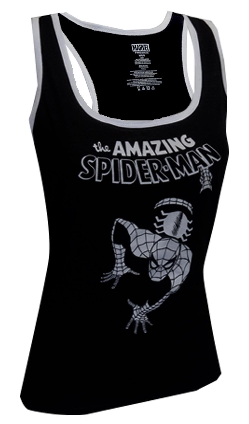 Marvel Comics Amazing Spiderman Racer Back Tank Top for women