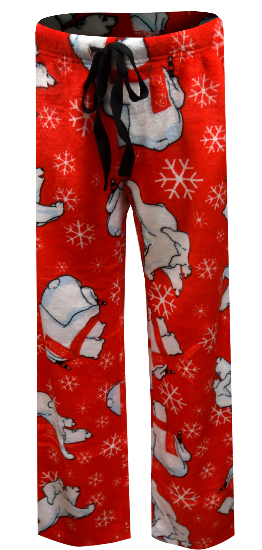Image of Coca Cola Coke Bears Red Plush Lounge Pants for women