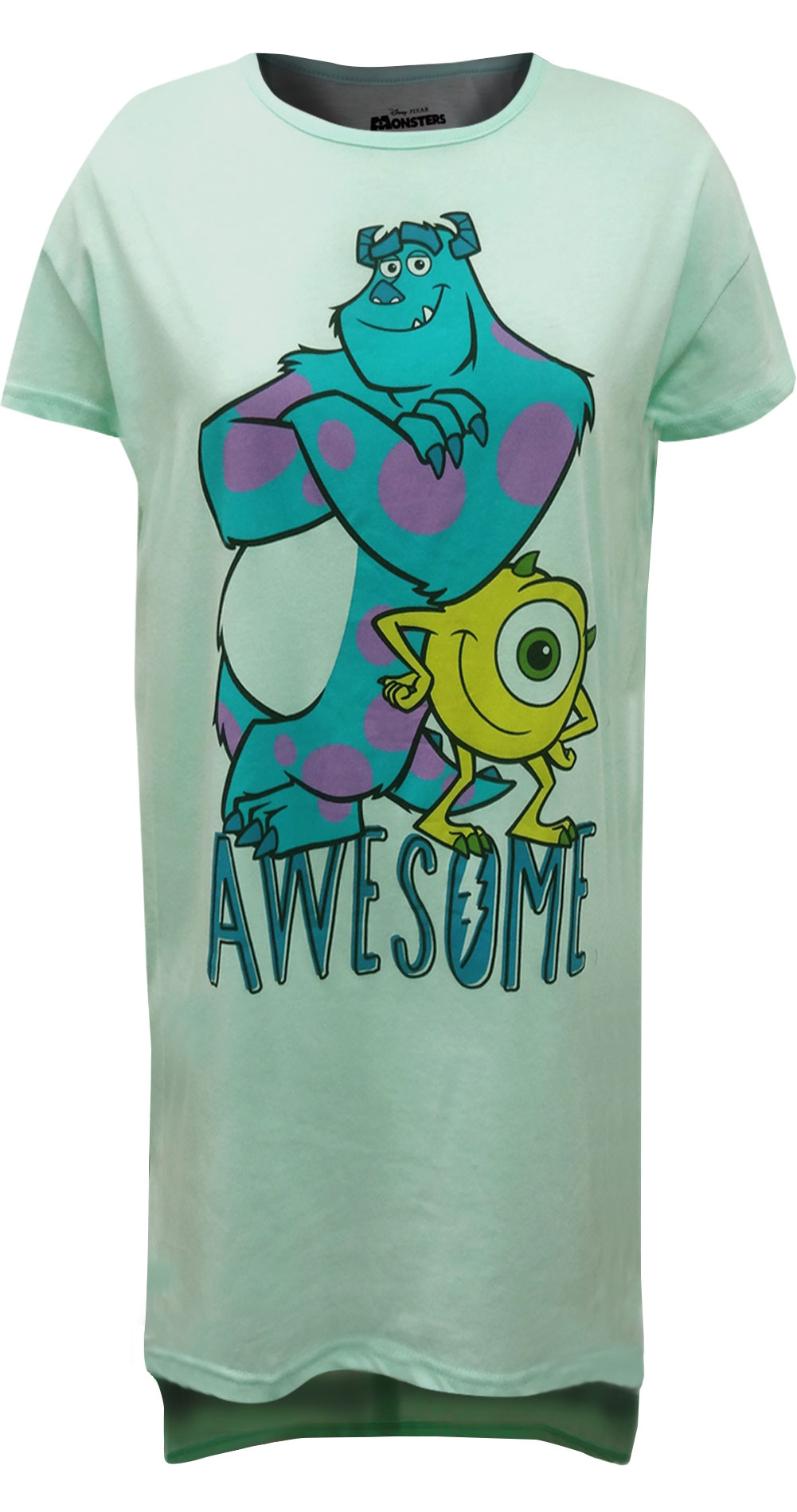 Image of Disney Pixar Monsters Inc Mike And Sulley Ladies Night Shirt for women