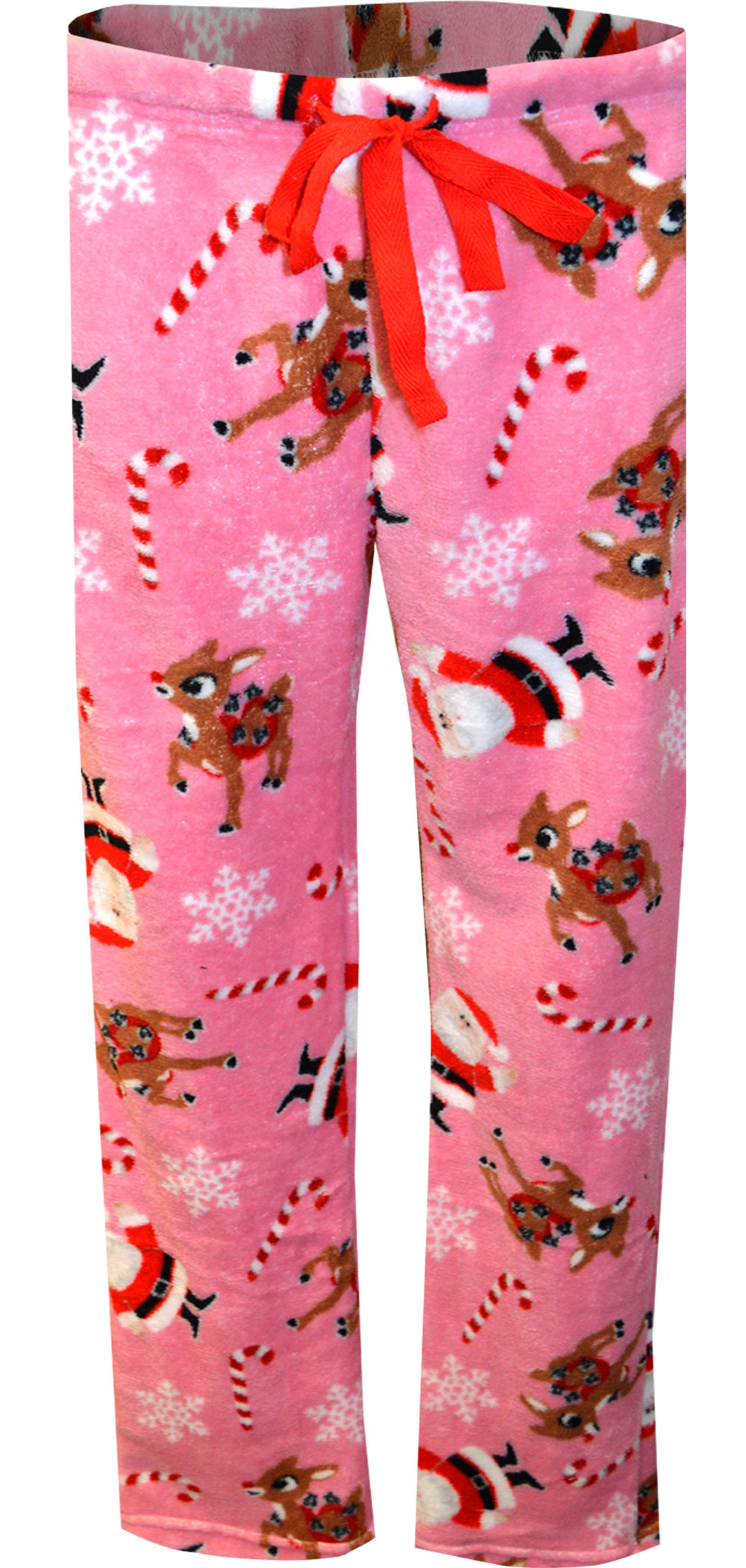 Image of Rudolph the Red-Nosed Reindeer and Santa Plush Lounge Pants for women