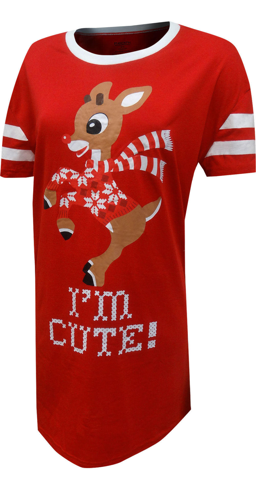 Image of Rudolph The Red-Nosed Reindeer I'm Cute Plus Size Nightshirt for Women