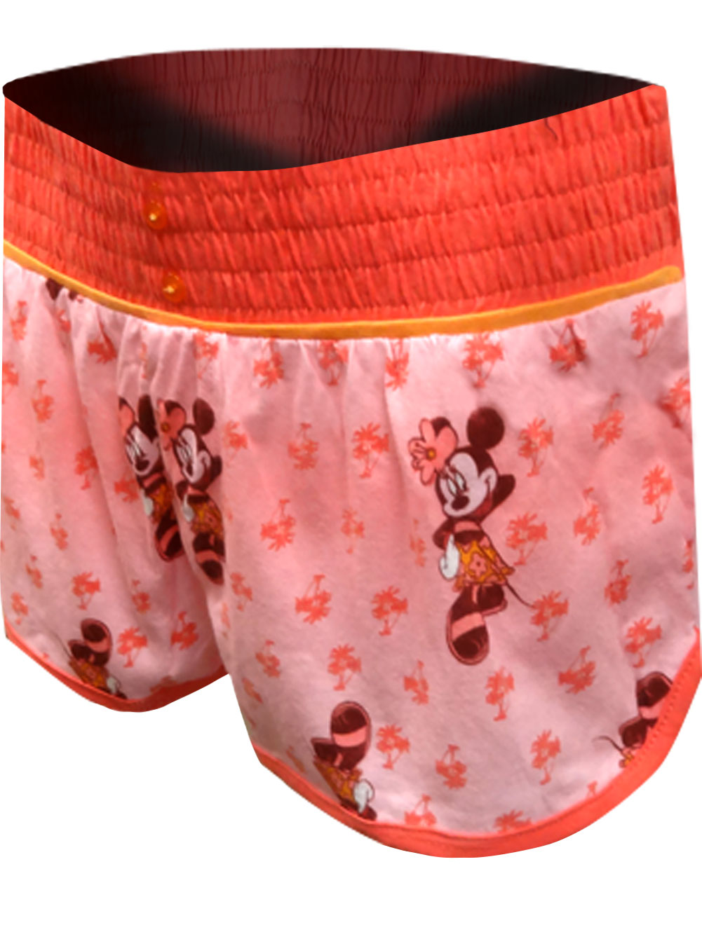 Minnie Mouse Island Beauty Coral Sleep Shorts for women