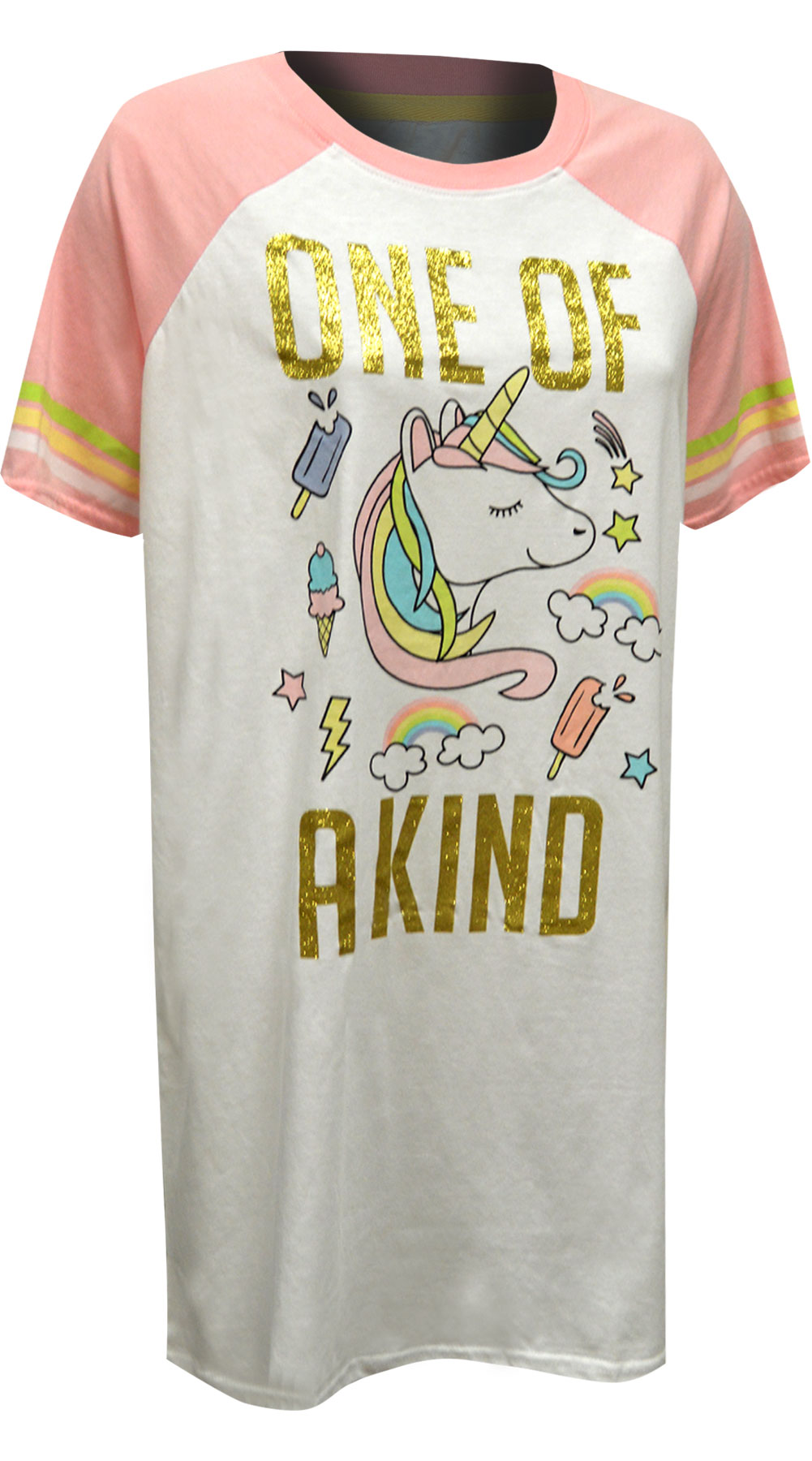 Image of Rainbow Unicorn One of a Kind Night Shirt for women