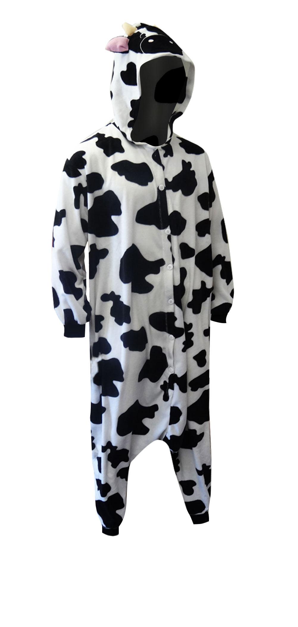 WebUndies.com Spotted Cow Low Rider Hooded One Piece Pajama