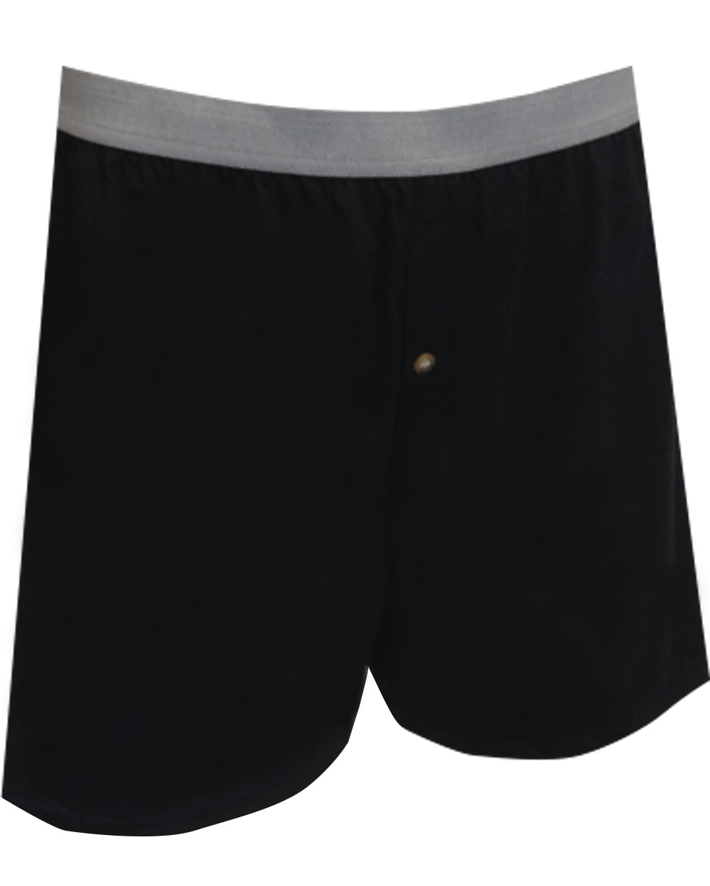 Image of Classic Men's Black Knit Cotton Boxers for men
