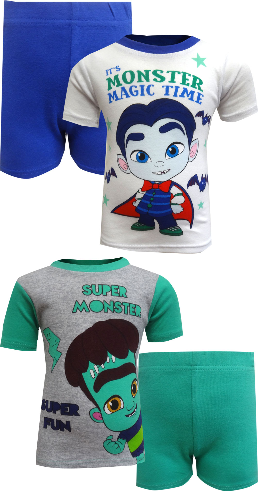 Image of Netflix Super Monsters Drac and Frankie 4 Piece Toddler Pajamas for boys