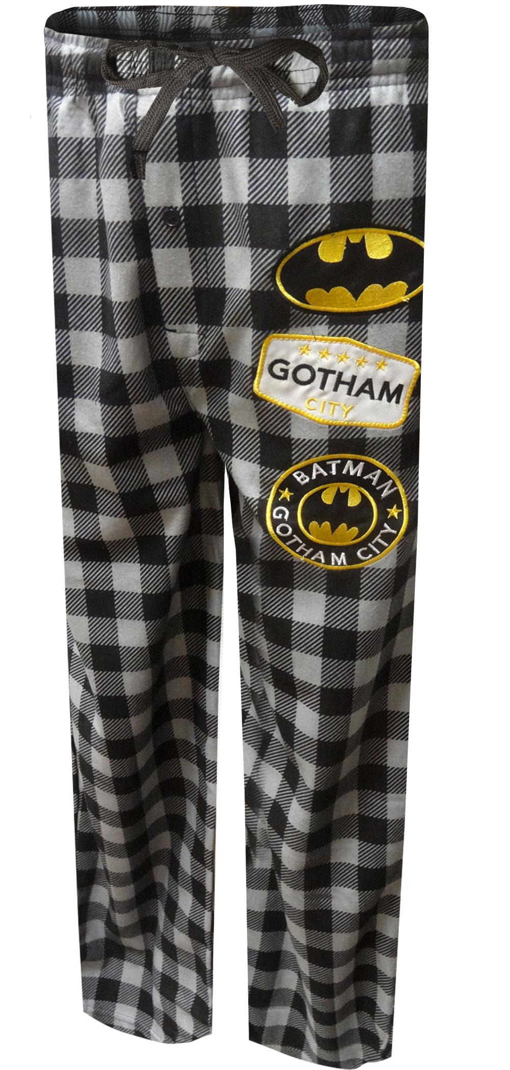 Image of Batman Modern Flannel Buffalo Plaid Lounge Pants for men