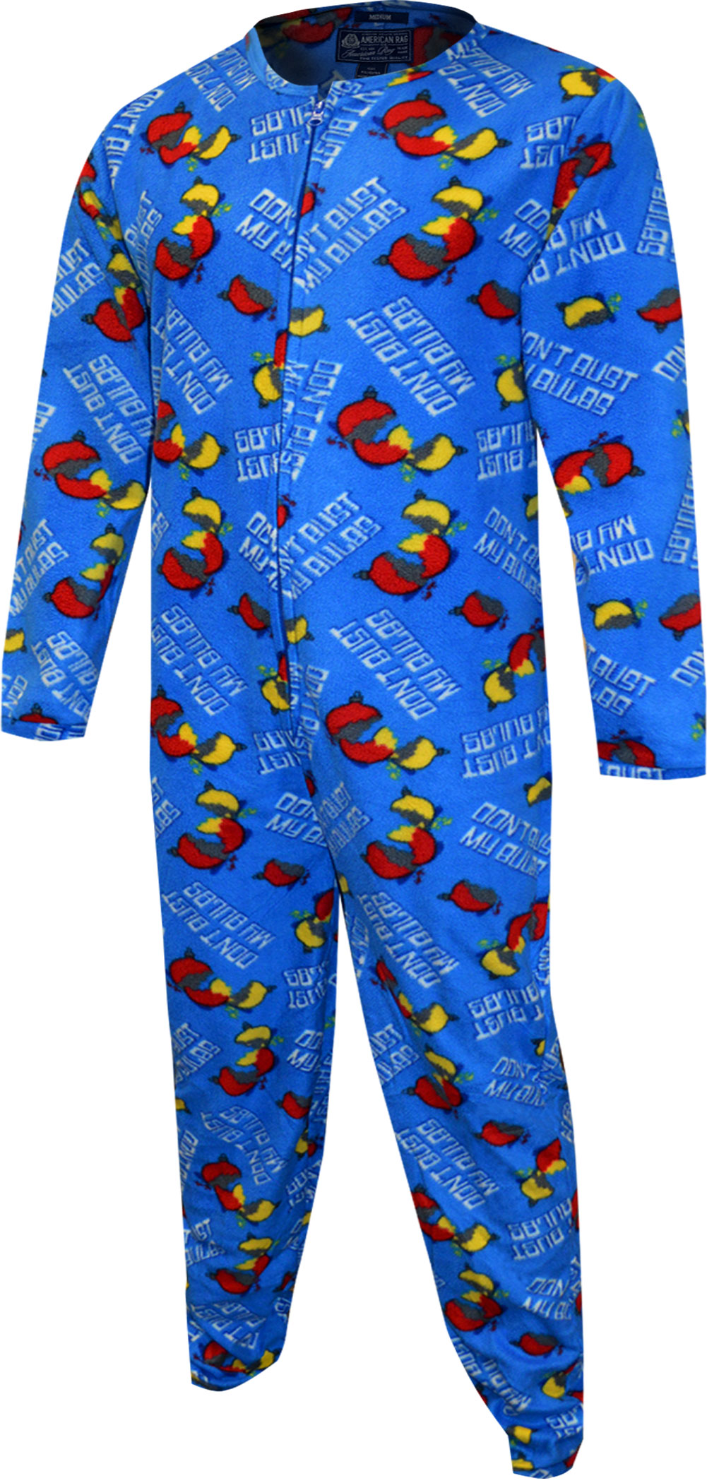 Image of Christmas Don't Bust My Bulbs One Piece Union Suit Pajama for men