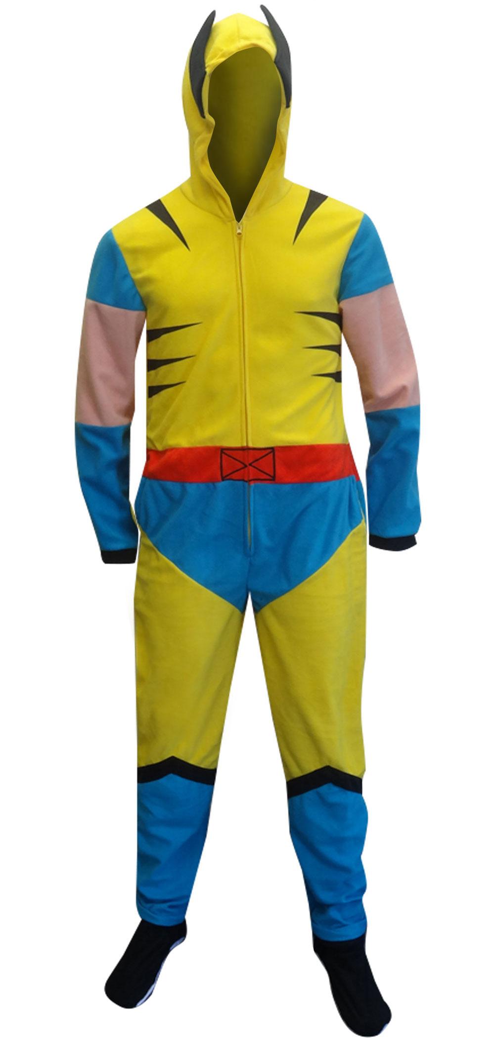 WebUndies.com Marvel Comics Wolverine Hooded Fleece Onesie Pajama